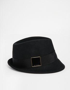 Agrandir Ted Baker - SQR - Chapeau mou en feutre avec carré