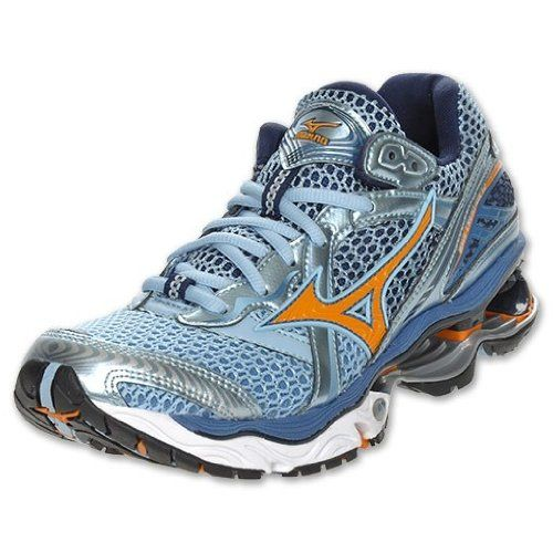 purchase cheap 2a0b9 5375d Mizuno Women s Wave Creation 12 Running Shoe, Sky Blue Orange Peel, 7.5 M  US « Clothing Impulse