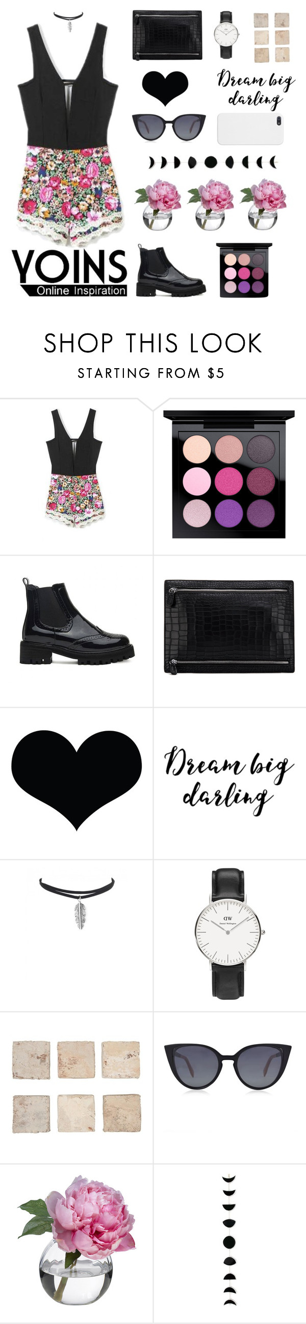 """""""#4 Wear Your Heart On Your Wrist"""" by holly-k15 ❤ liked on Polyvore featuring MAC Cosmetics, Daniel Wellington, Fendi, Diane James and yoins"""