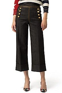 HILFIGER COLLECTION CROPPED MARINE PANT $430.00