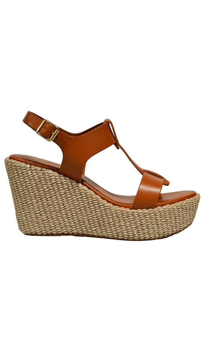 3eaa12ee Apair lædersandaler med kilehæl | Shop Serafine.dk | Sko & sandaler ...