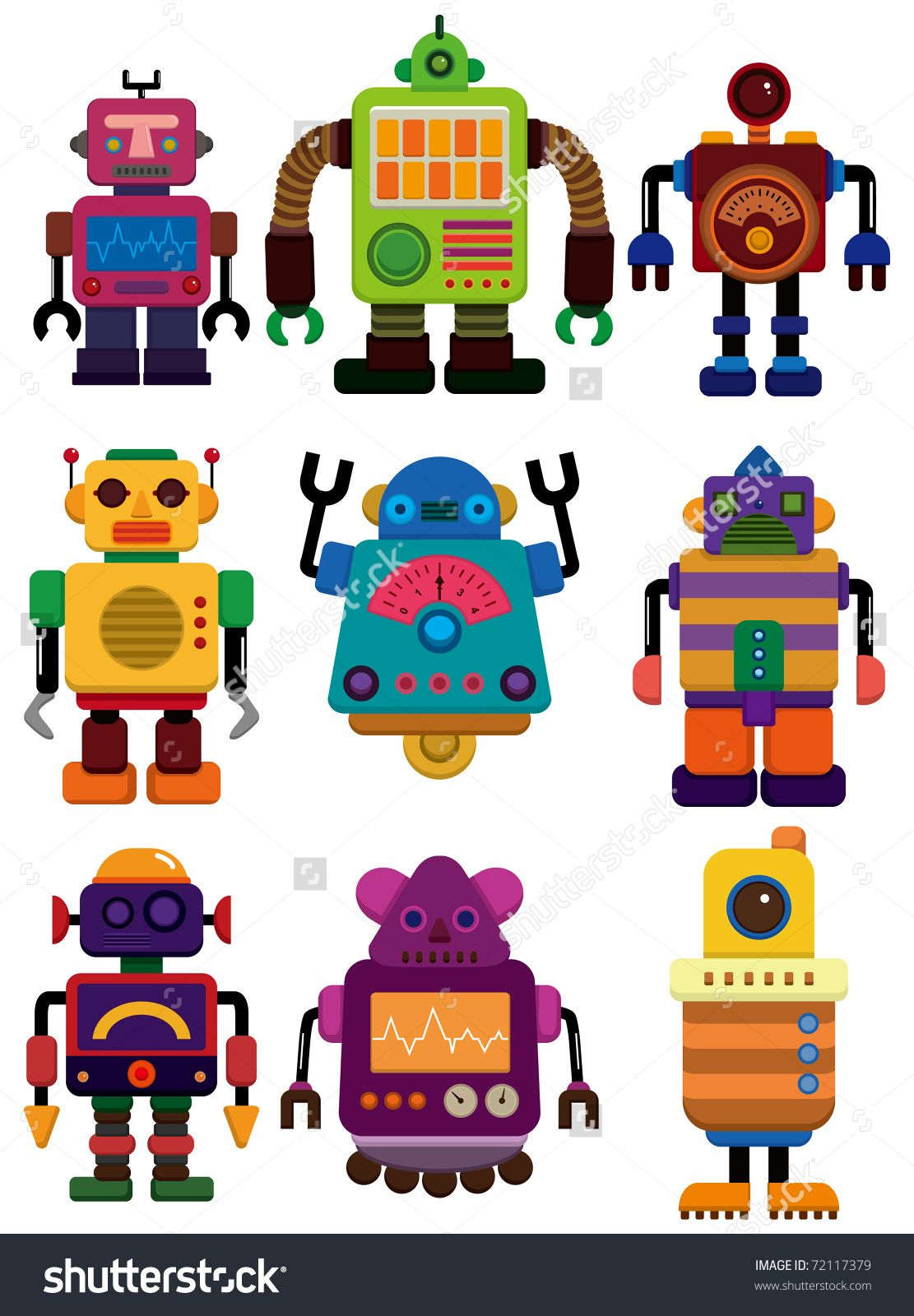 Orange Themed Circuit Board Drawing Vector Clipart Illustration Cartoon Color Robot Icon Kid Stuff Pinterest Images