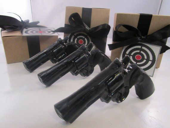 3 Gun Soap  - gifts for husband, stocking for man, gifts for him, christmas for boyfriend, guys gift , christmas for guys #stockingstuffersformen