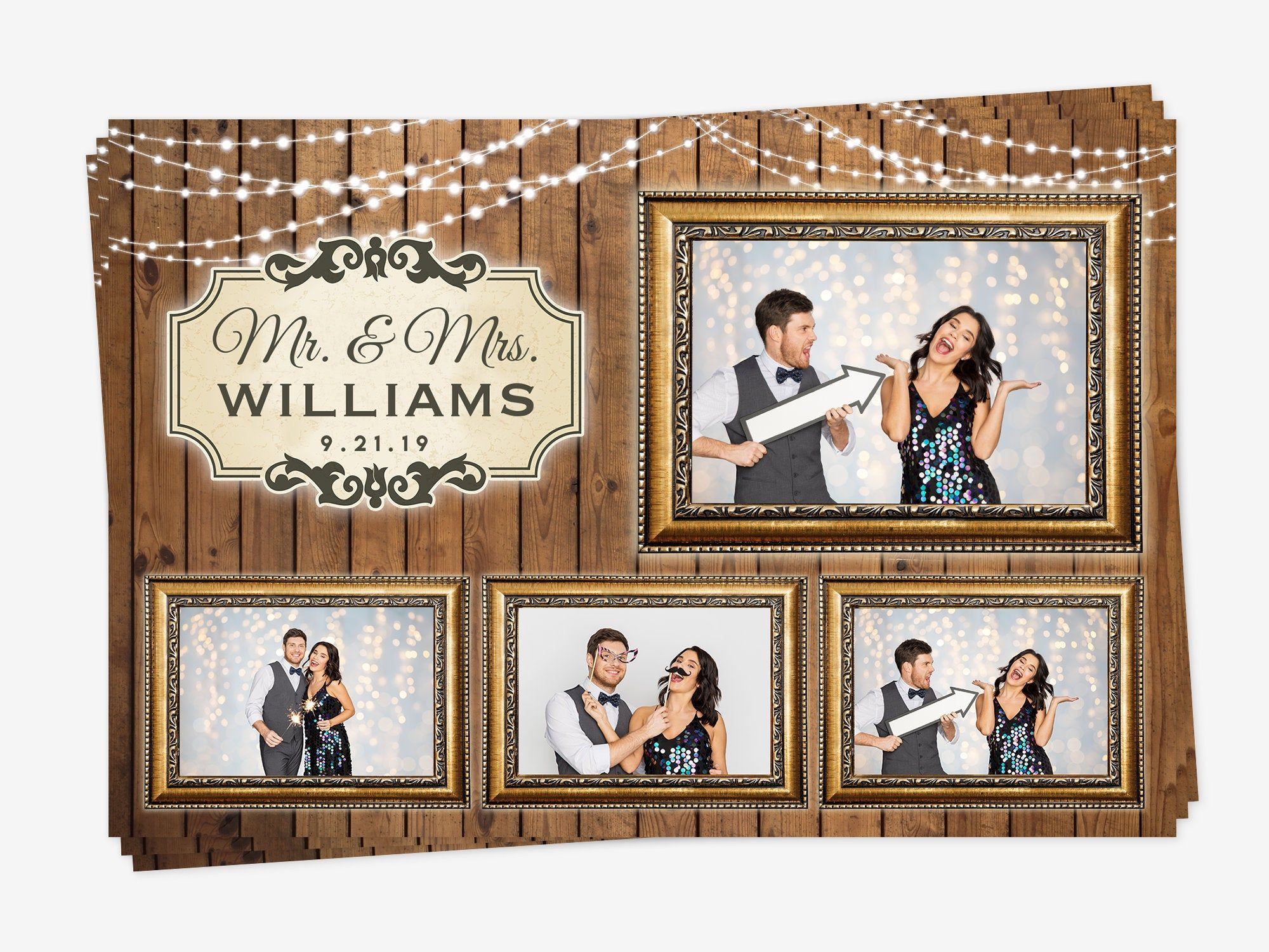Rustic Photo Booth Template Wedding Photo Booth Template Vintage Photo Booth Template Western Photobooth Template Wedding Photo Booth Graduation Photo Booth