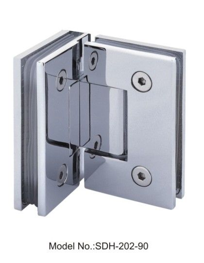 90 Degree Square Glass To Glass Shower Door Hinge With Sharp Angle