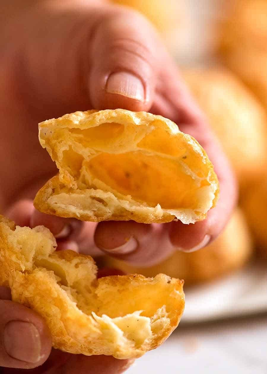 Gougeres French Cheese Puffs Finger Food Recipe Cheese Puffs Finger Foods Recipes