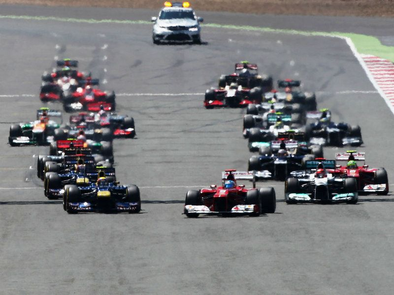 British GP - Sunday Pics  The race start