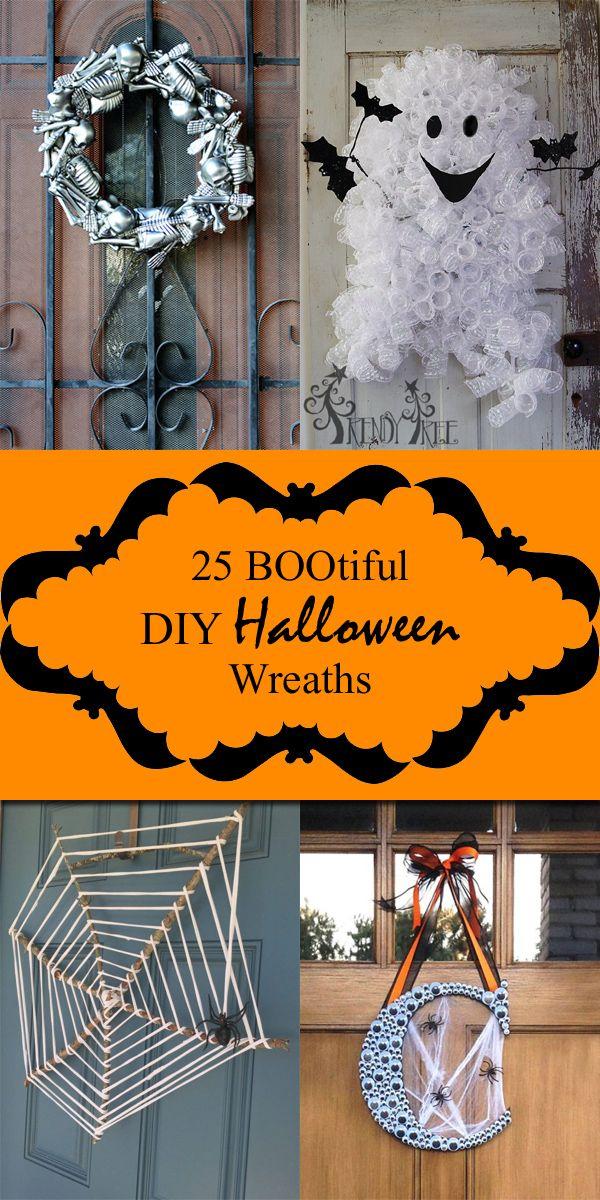 25 BOOtiful DIY Halloween Wreaths Halloween diy