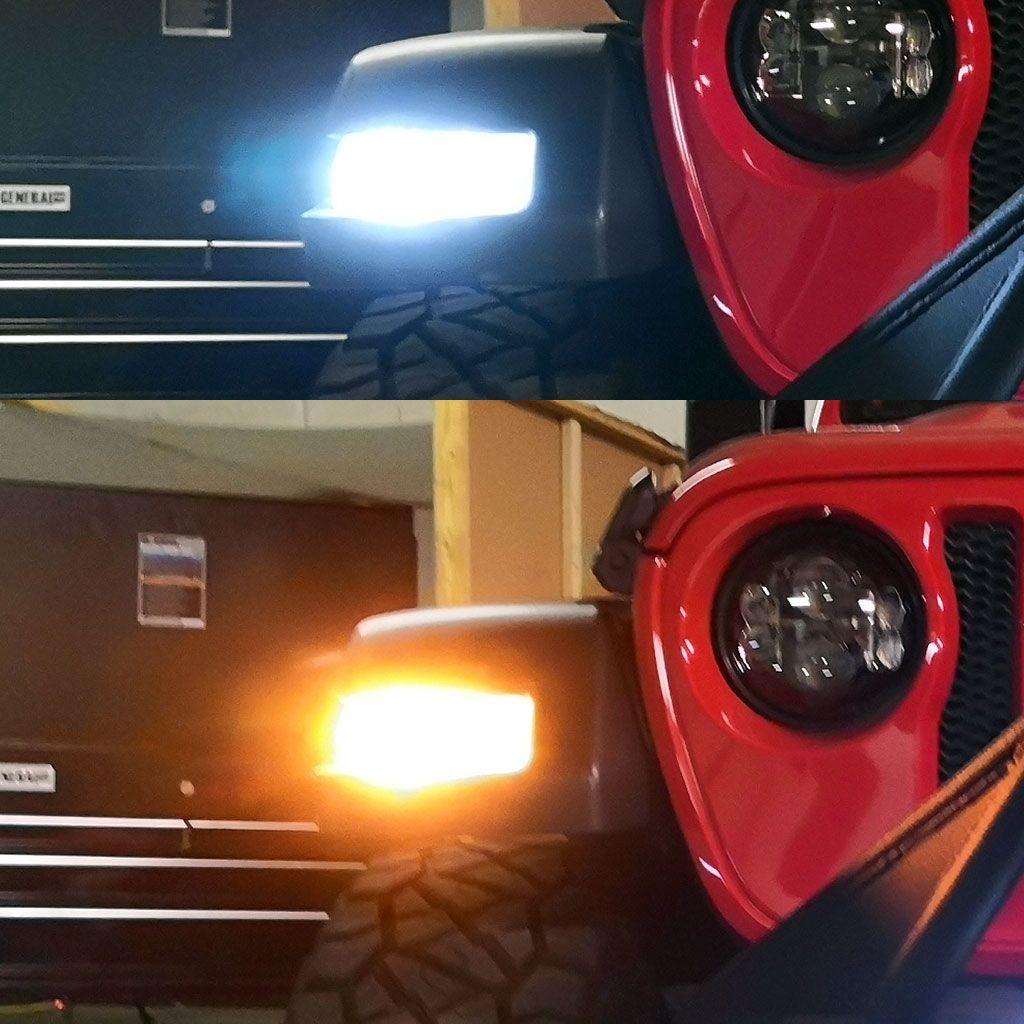 7443 Led No Hyper Flash Amber White Switchback For Jeep Jeep Jl Jeep Wrangler Jl