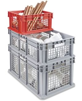 Mesh Straight Wall Containers In Stock Uline Container Wall Mesh
