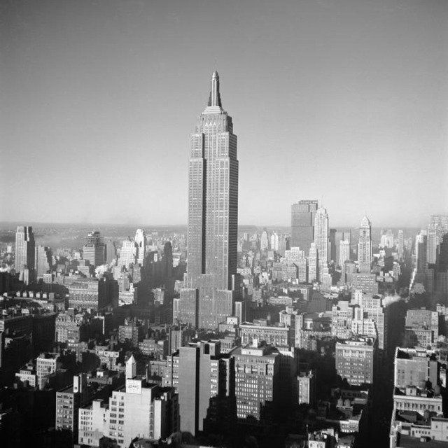 George Rodger - New York City. The Empire State Building. 1950, Photograph