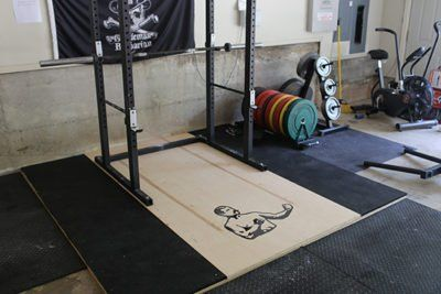 how to build a weightlifting platform  diy home gym