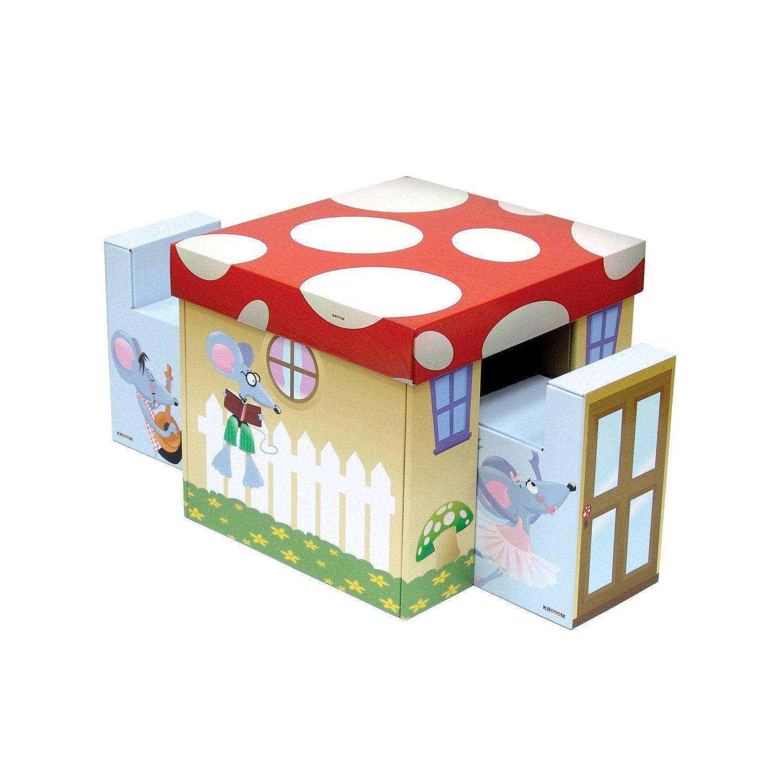Kroom Set Of Cardboard Table And 2 Chairs Mesas Y Sillas De Ninos Muebles De Carton Muebles Infantiles