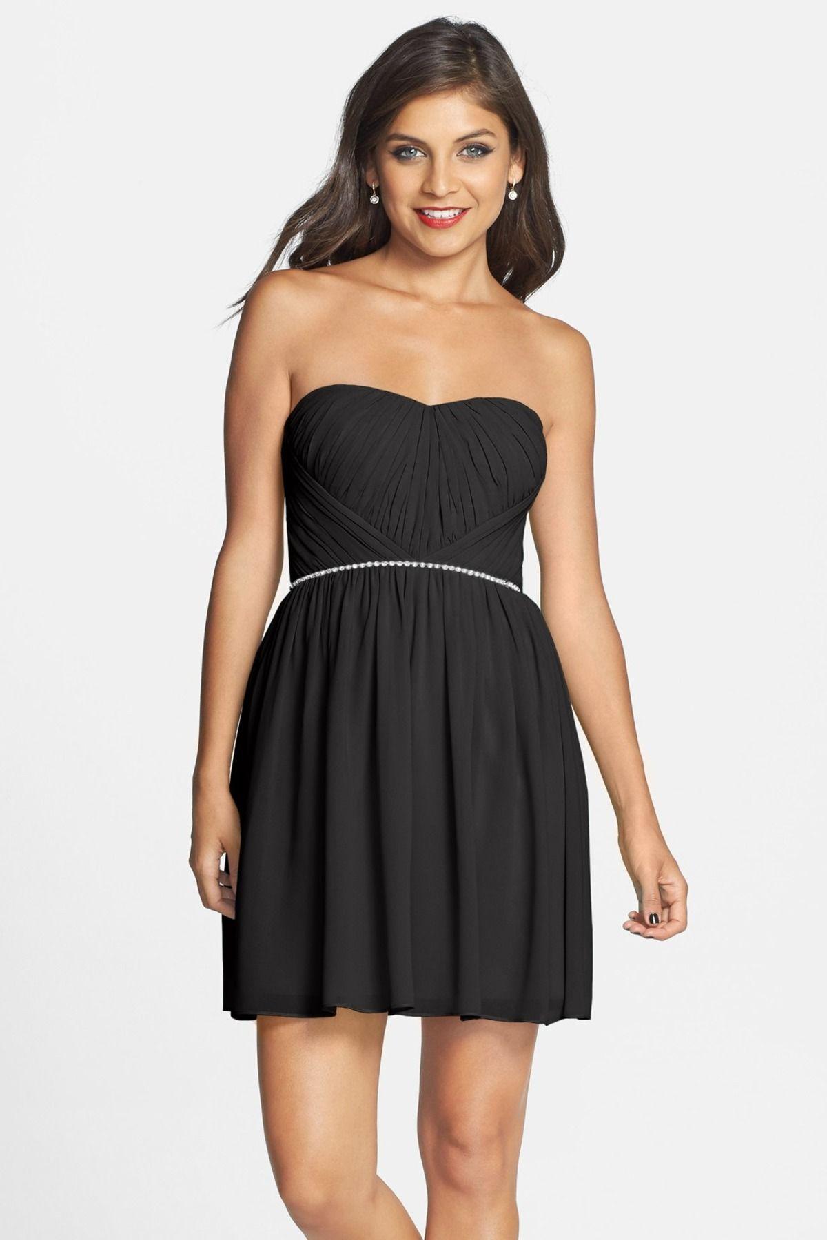 Embellished Ruched Skater Dress Juniors Dresses Dresses