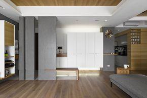 Plano y diseño de interiores departamento