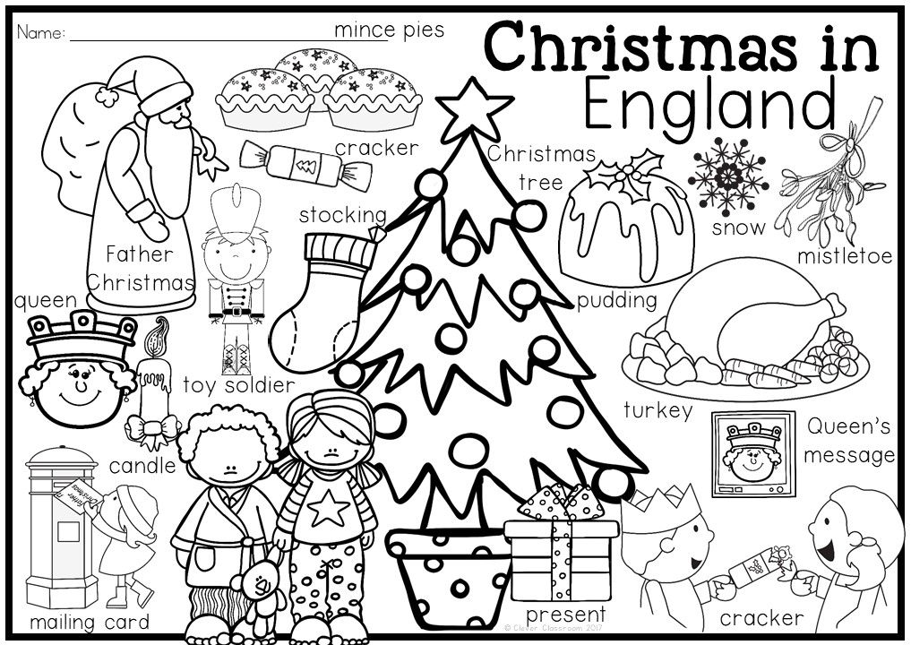 Christmas Around The World Vocabulary And Coloring Pages Via 12 Countries