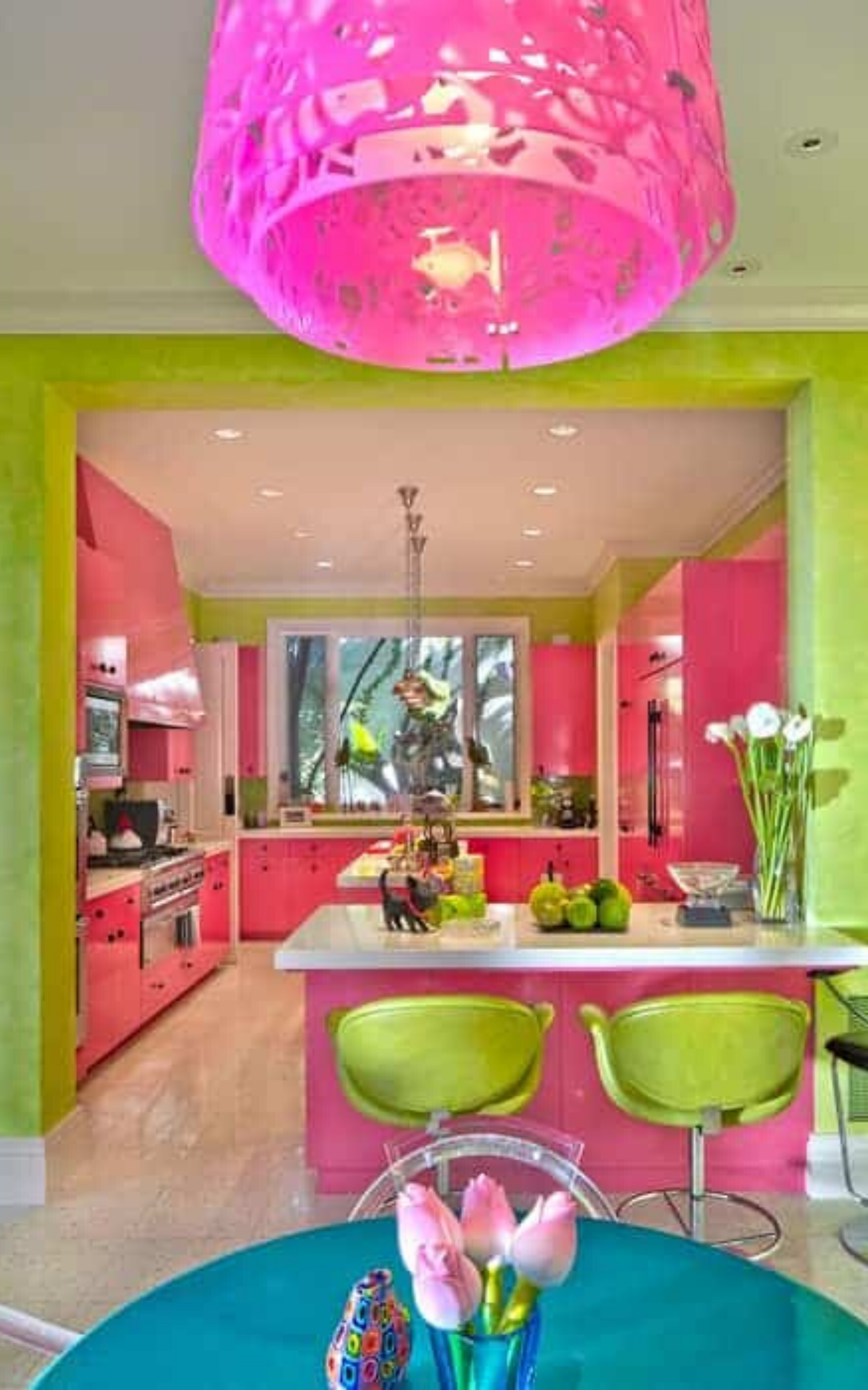 35 eclectic style kitchen ideas photos in 2020 with images eclectic kitchen design pink on kitchen decor pink id=38469