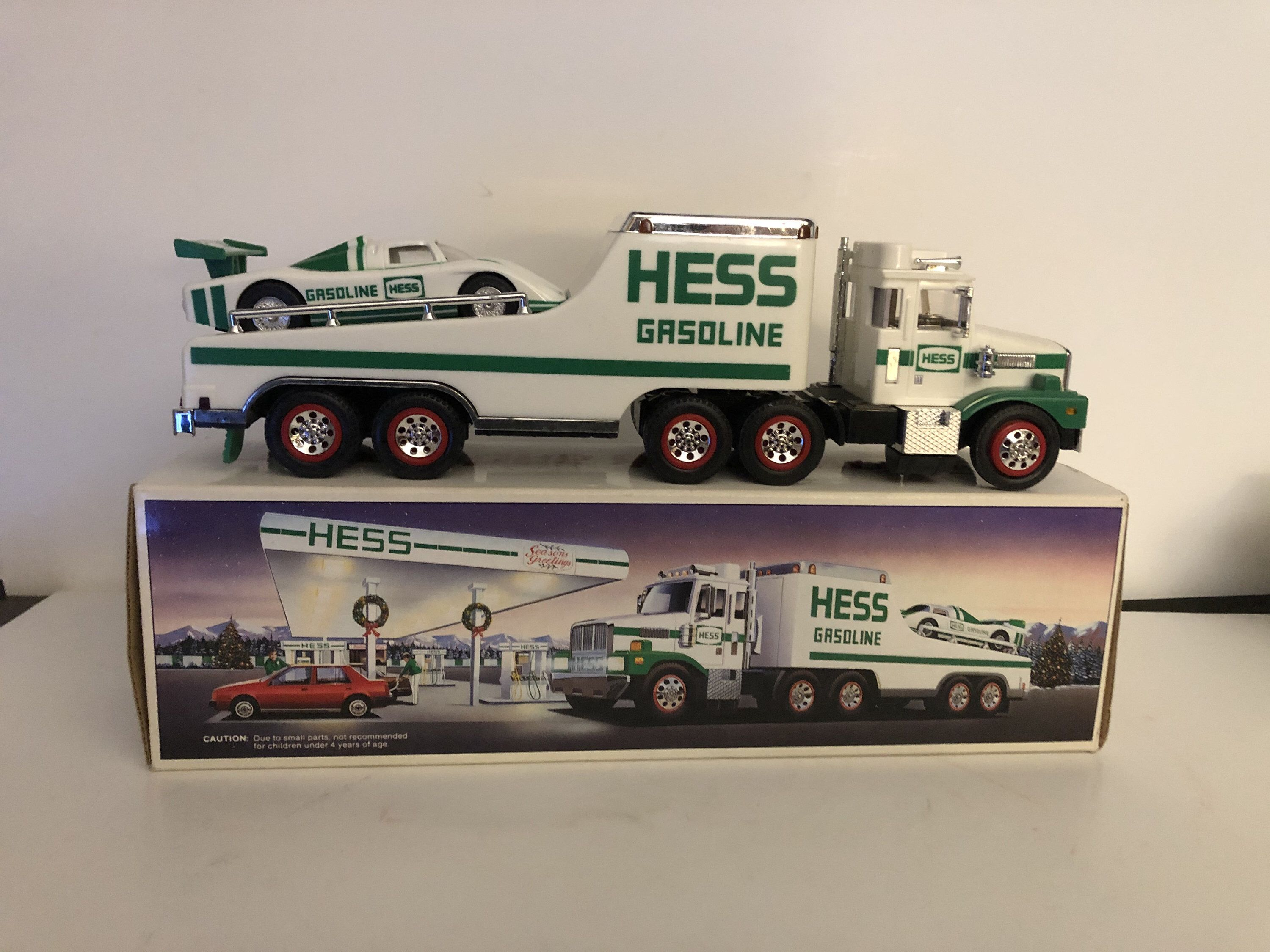 1988 Hess Truck And Racer In 2020 Trucks Racer Toy Car