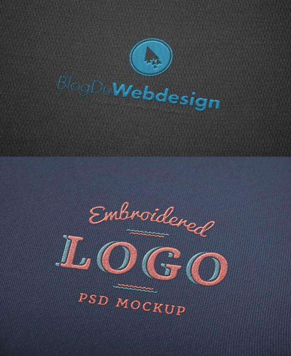 7 mockups en psd pour intégrer vos logos sur différents supports