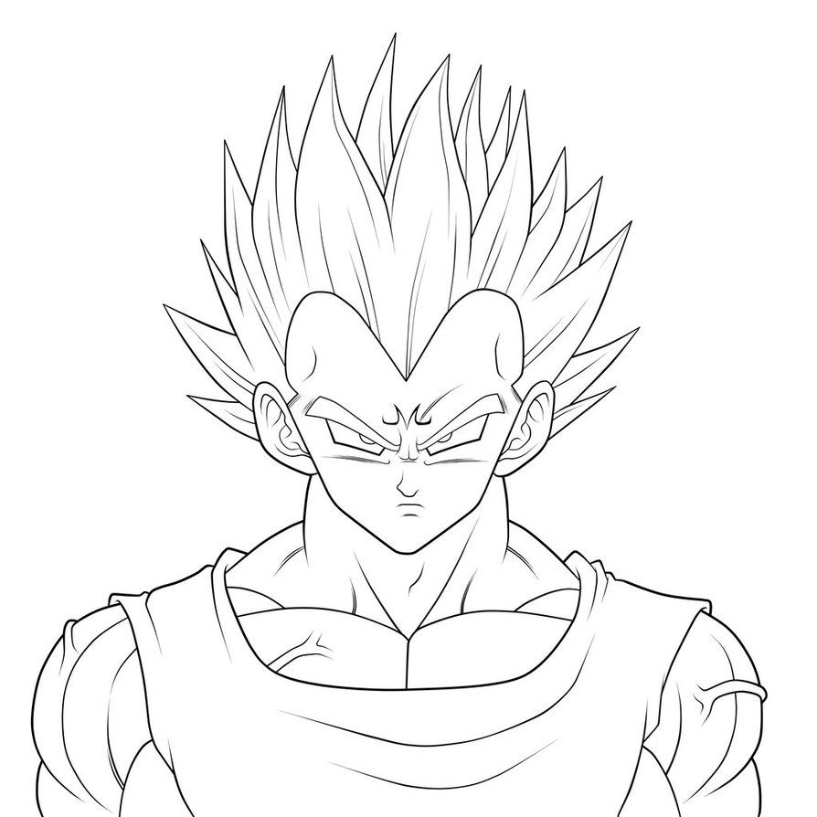 Comment Dessiner Vegeta Stencils Dragon Ball Goku Drawing Dbz