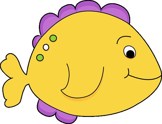 Purple cartoon fish yellow fish clip art image yellow for Fish and more