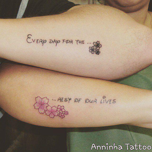80 Disney Couple Tattoos That Prove Fairy Tales Are Real Couple Tattoo Quotes Disney Tattoos Quotes Disney Couple Tattoos