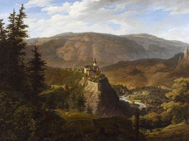 Poster, Leinwandbild »Landschaften Europa Deutschland Malerei Braun« #naturallandmarks