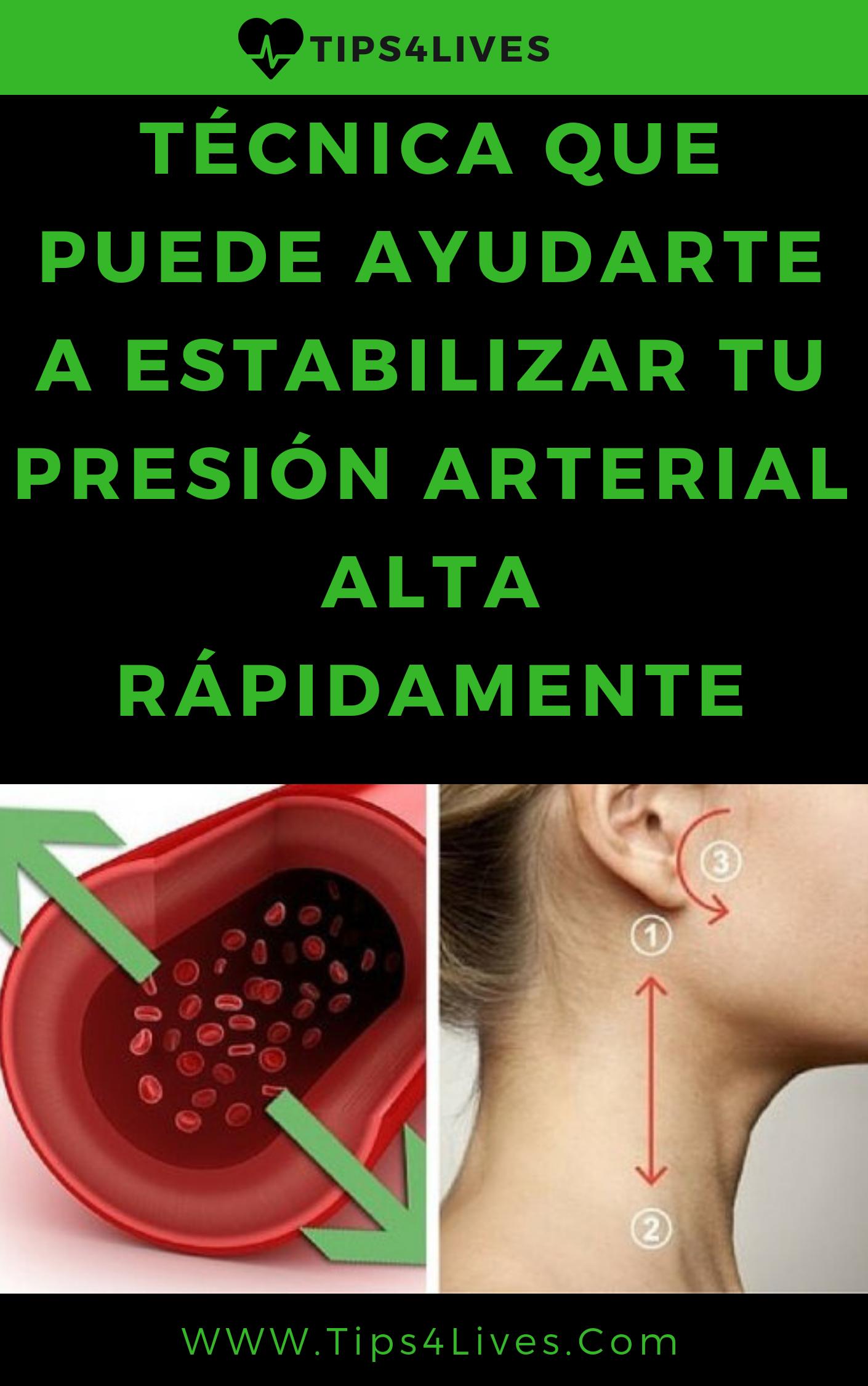 estabilizar la presion arterial alta