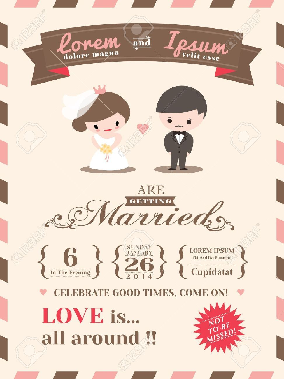 cute wedding invitation | invitation | pinterest, Wedding invitations