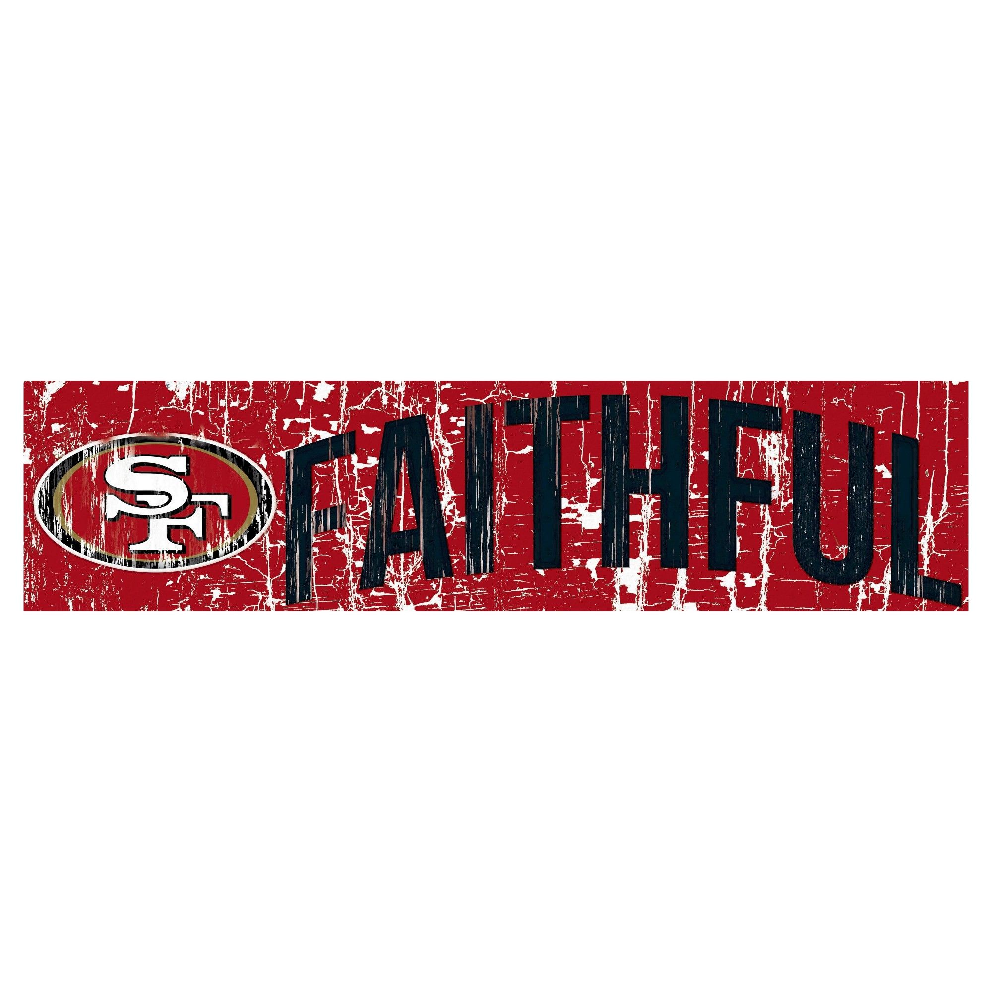 xmas gifts nfl san francisco 49ers fan creations 24 slogan wood sign