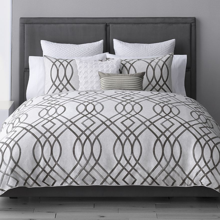Simply Vera Wang Geometric Supima Cotton 4 Piece Sheet Set Queen Full