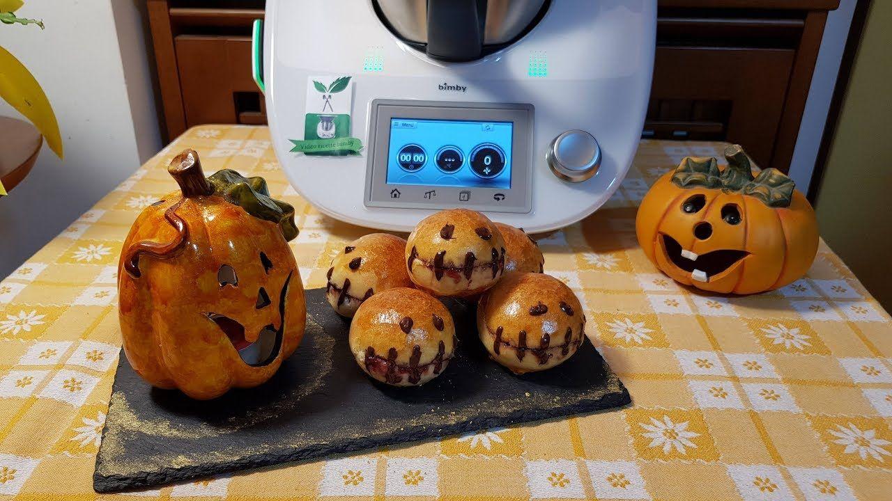 Panini dolci di halloween preparati con il bimby per TM5 e