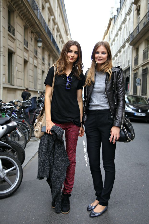 Andreea Diaconu and Eniko Mihalik. Sundays were made for friends. Freakishly blessed ones I might add #offduty