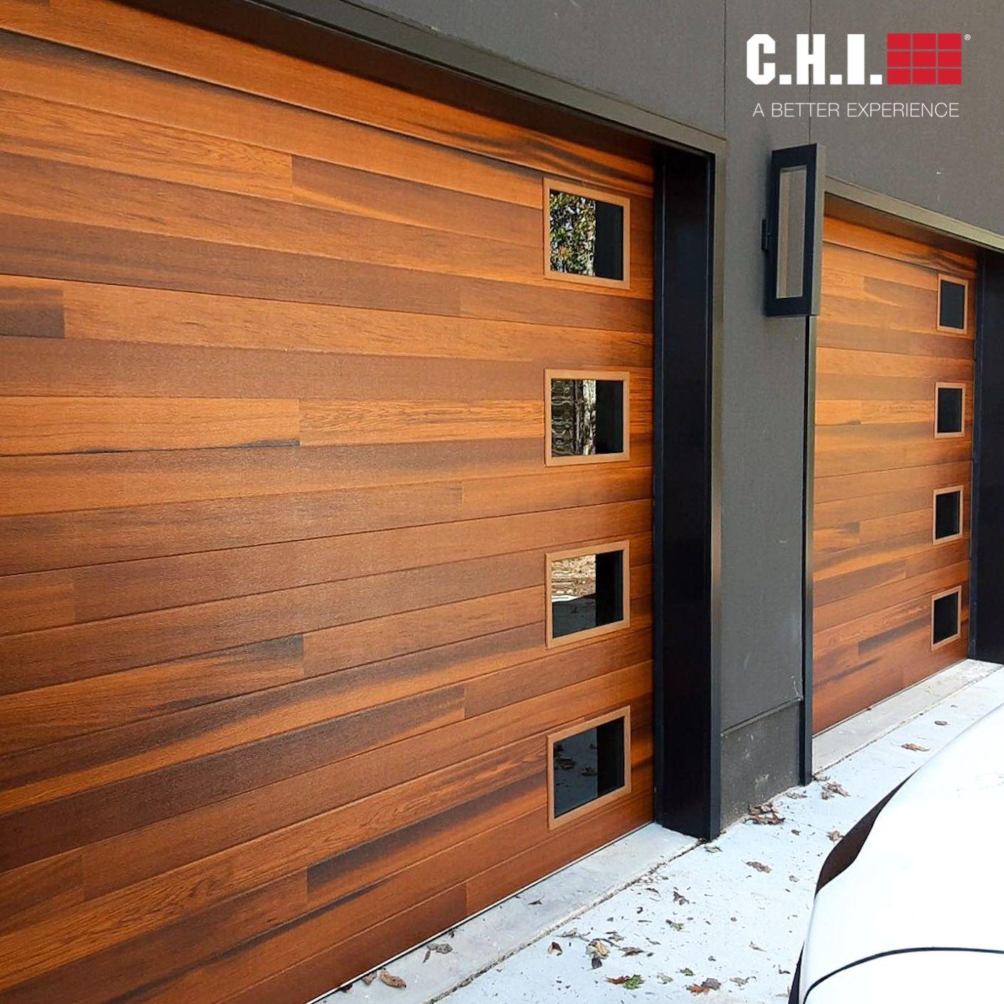 Planks Garage Doors In Cedar Accents Woodtones In 2020 Garage Door Styles Garage Door Design Contemporary Garage Doors