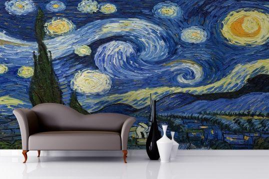 Starry Night Wallpaper Van Gogh Wallpaper For Walls Muralswallpaper Starry Night Bedroom Starry Night Wallpaper Starry Night Van Gogh