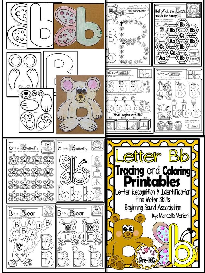 Letter Of The Week Letter Bb Pre Kg Coloring And Tracing Worksheets Which Includes Art Activi Alphabet Worksheets Kindergarten Themes Language Arts Elementary