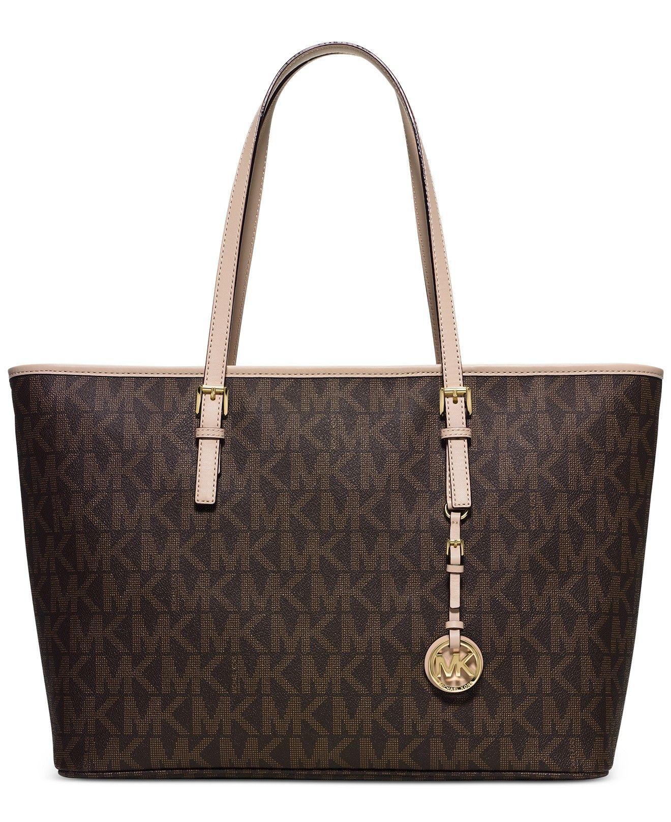 36068181d MICHAEL Michael Kors Jet Set Travel Medium Top Zip Multifunction Tote - Michael  Kors Handbags - Handbags Accessories - Macys
