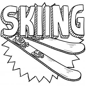 Skiing Coloring Page Kidspressmagazine Com Sports Coloring Pages Coloring Pages Sport Illustration
