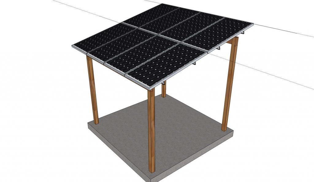 Lean To Solar Gazebo Solar Energy Diy Solar Power Diy Solar