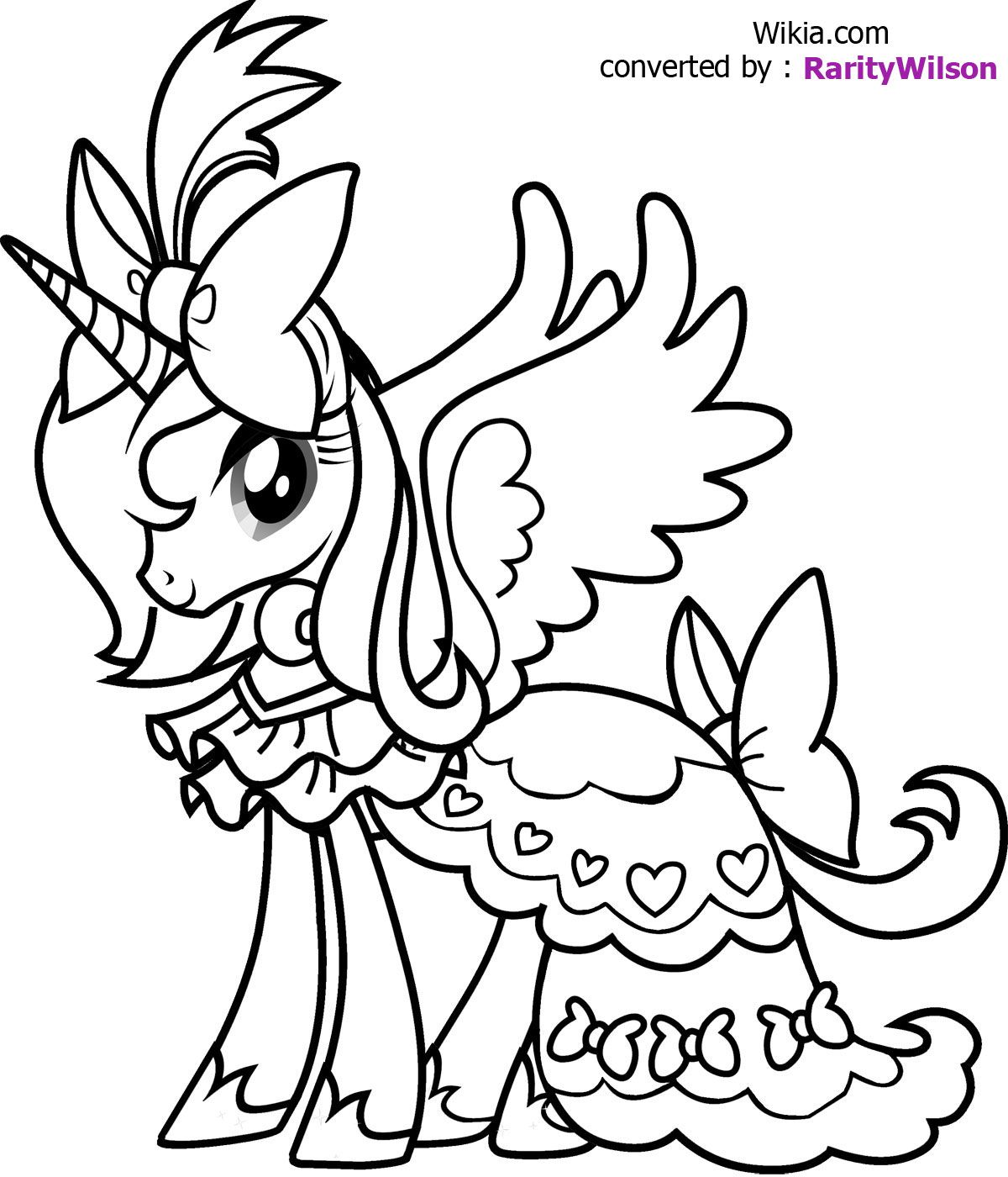Princess Luna Coloring pages for the kids Pinterest