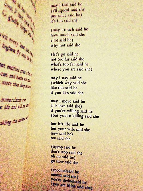May I Feel Said He By E E Cummings Inspirational Poems
