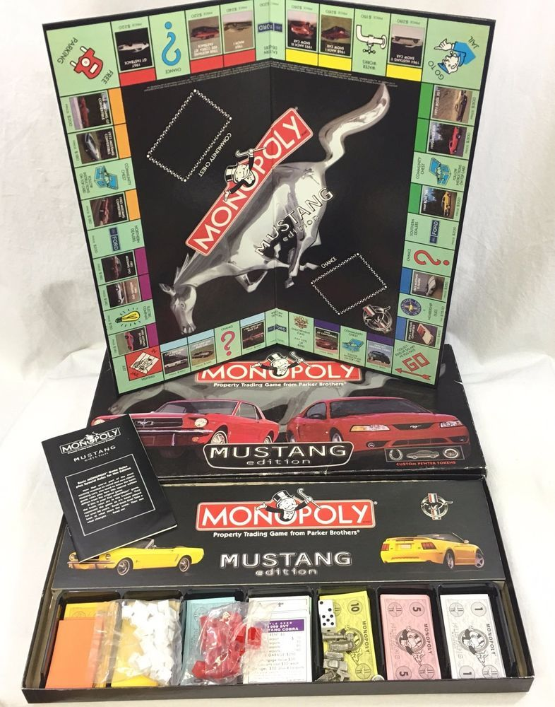 Monopoly Mustang Edition Custom Pewter Tokens 35th