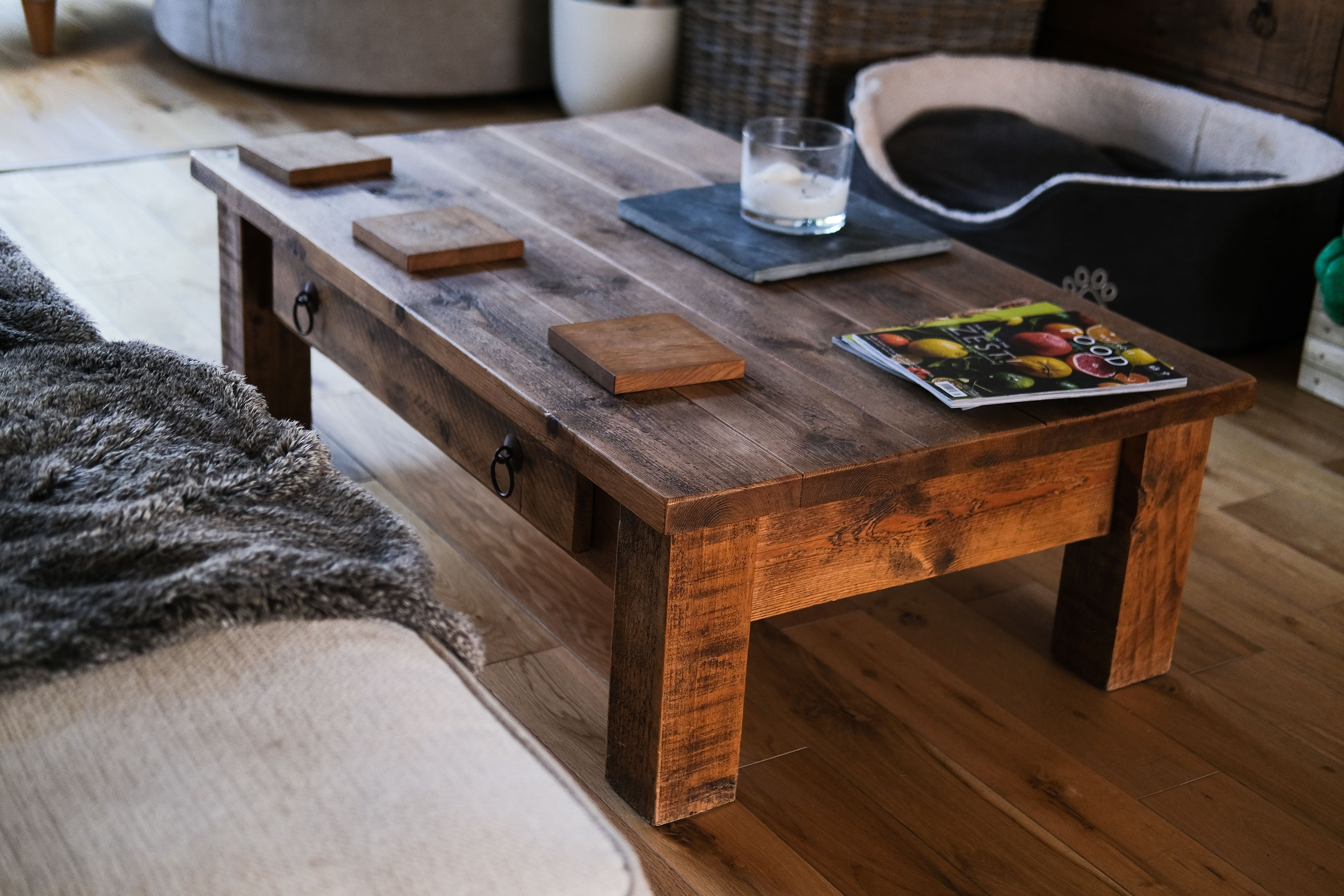 Rustic Plank Coffee Table In 2020 Pine Furniture Coffee Table Solid Wood Furniture [ 4160 x 6240 Pixel ]