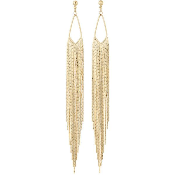 Panacea Golden Fringe Drop Earrings 18 Liked On Polyvore Featuring Jewelry