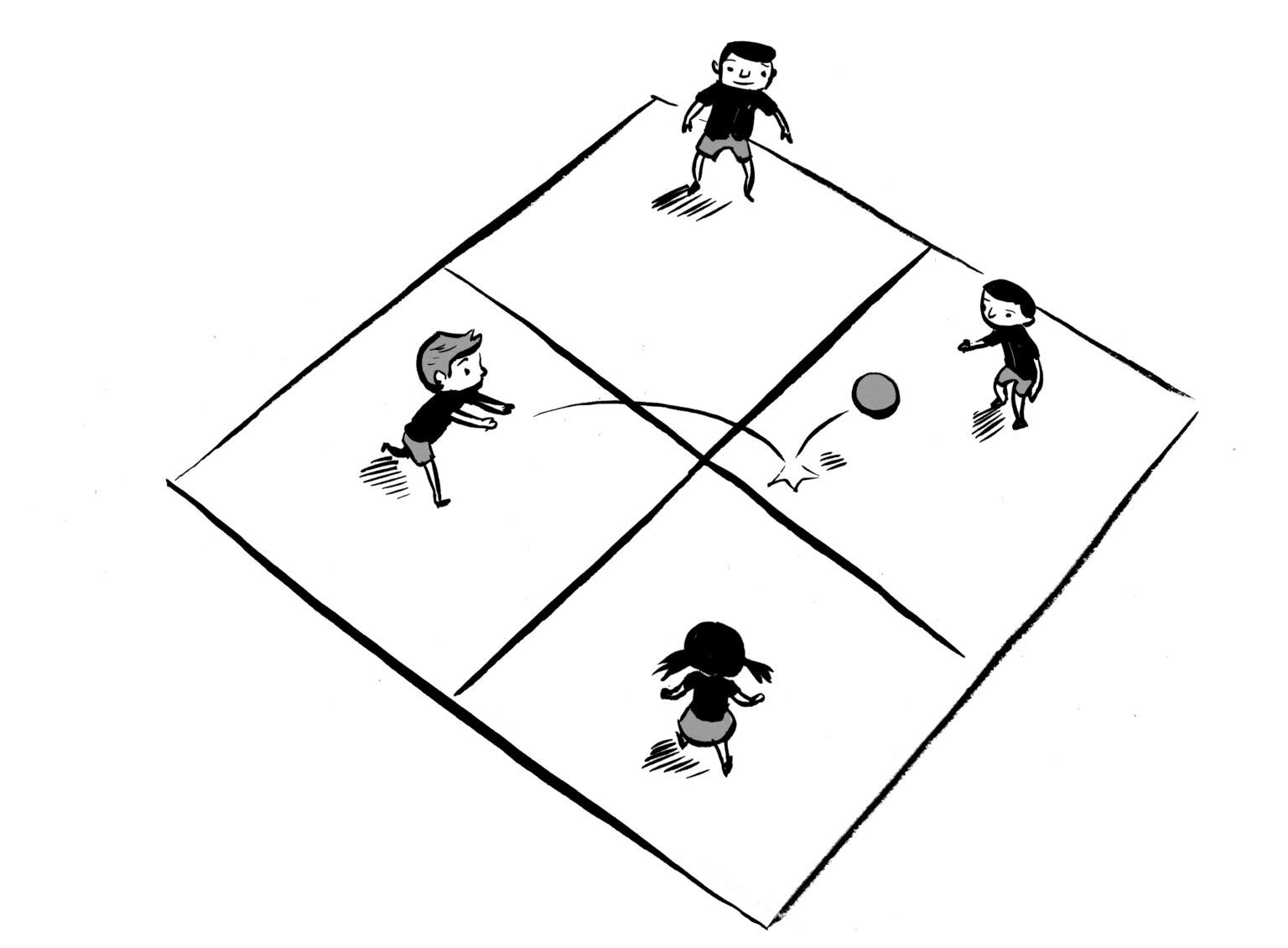 Four Square Clipart within Blank Four Square Writing