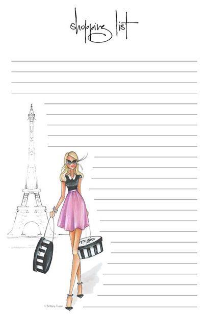 Brittany Fuson Paper Parisian u2026 Pinteresu2026 - printable lined notebook paper
