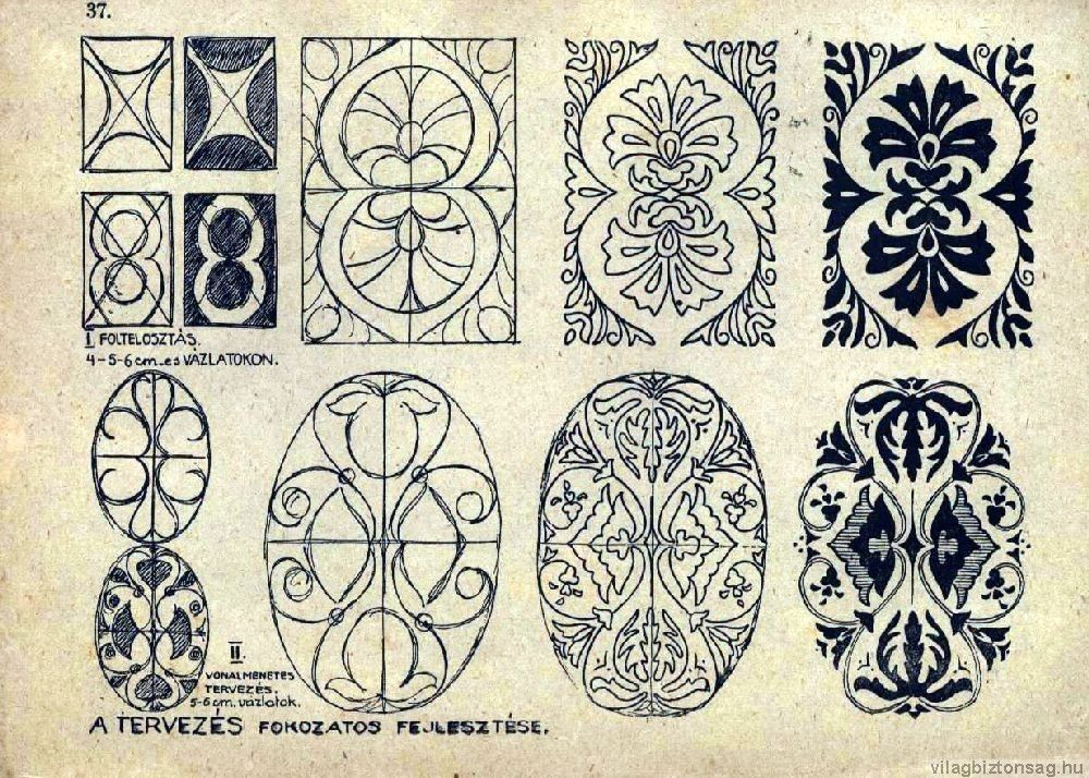 Hungarian site with several pages of embroidery patterns | Vidrio ...