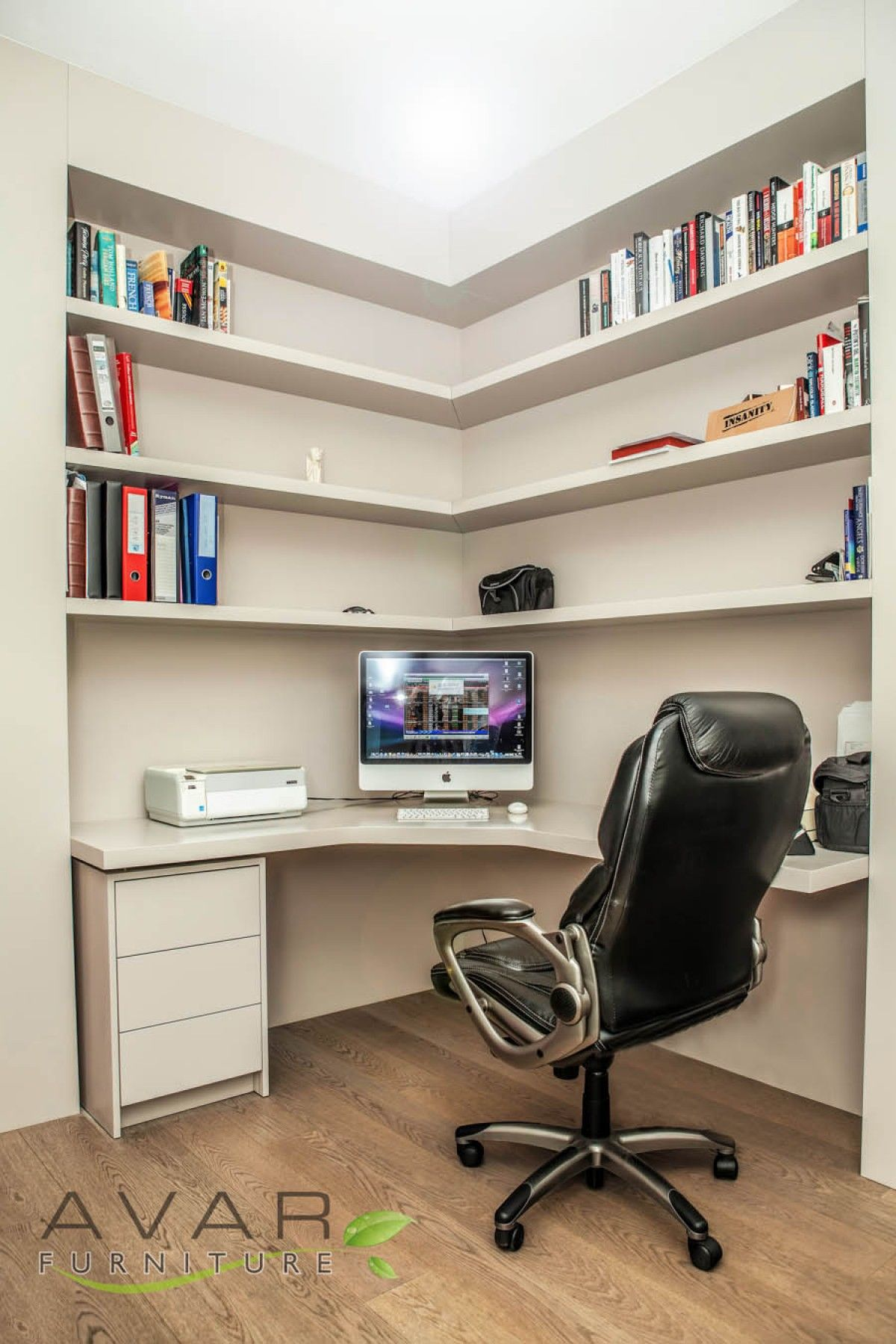 Home Office Under Stairs Design Ideas: 'L' Shape Office Desk From Avar Furniture