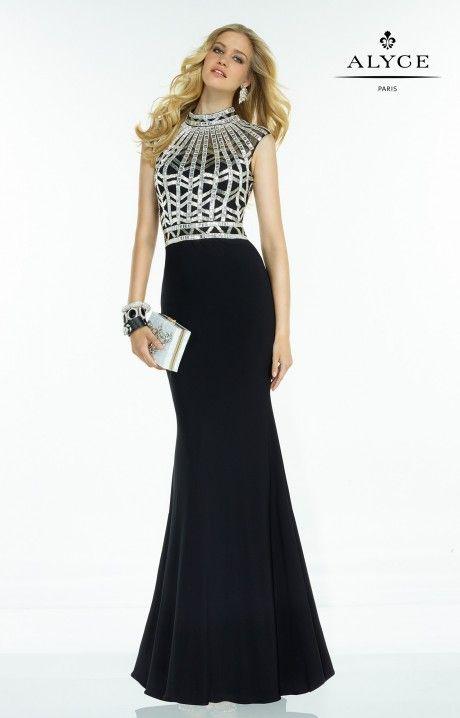 970cc61a1e Alyce Paris Prom 2016 Claudine #2531 www.thecastlepromandbridal.com Little  black dress alert! Color choices: Black/Silver Cobalt/Gold