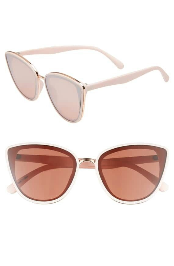 BP. Perfect 53mm Cat Eye Sunglasses - Nude/ Gold in